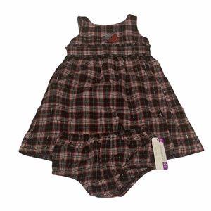 Portland Trail Blazers 2 Piece Flannel Dress 2T
